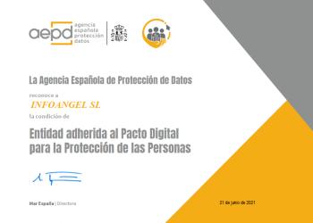 Adhesión al Pacto Digital para la Protección de las Personas de la AEPD